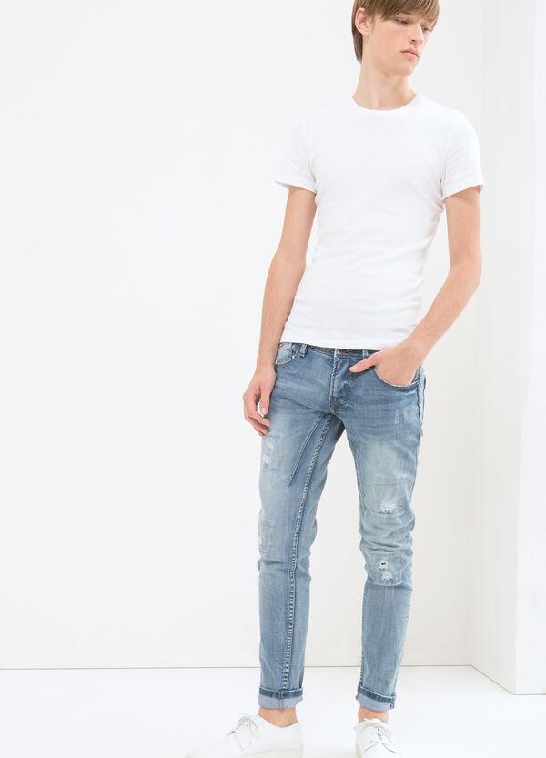 Jeans skinny fit con strappi | OVS