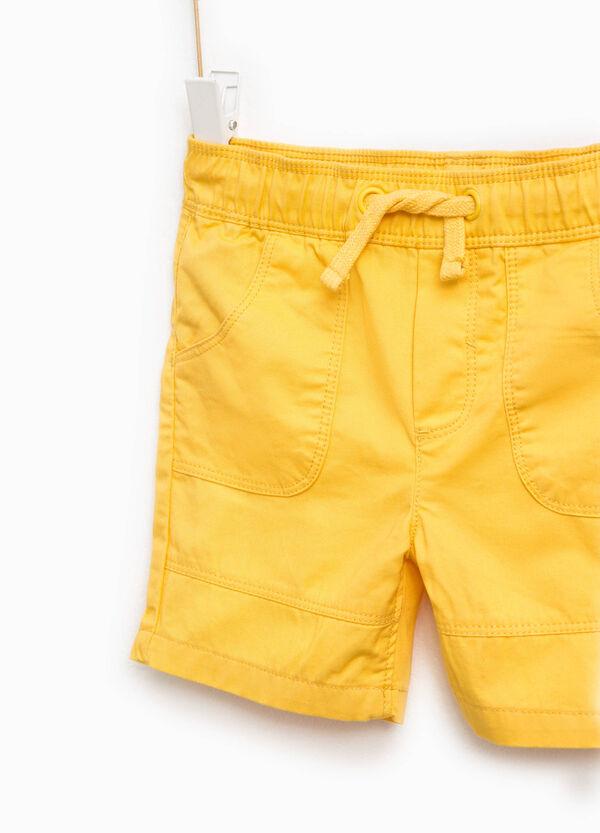 Cotton Bermuda shorts with drawstring   OVS