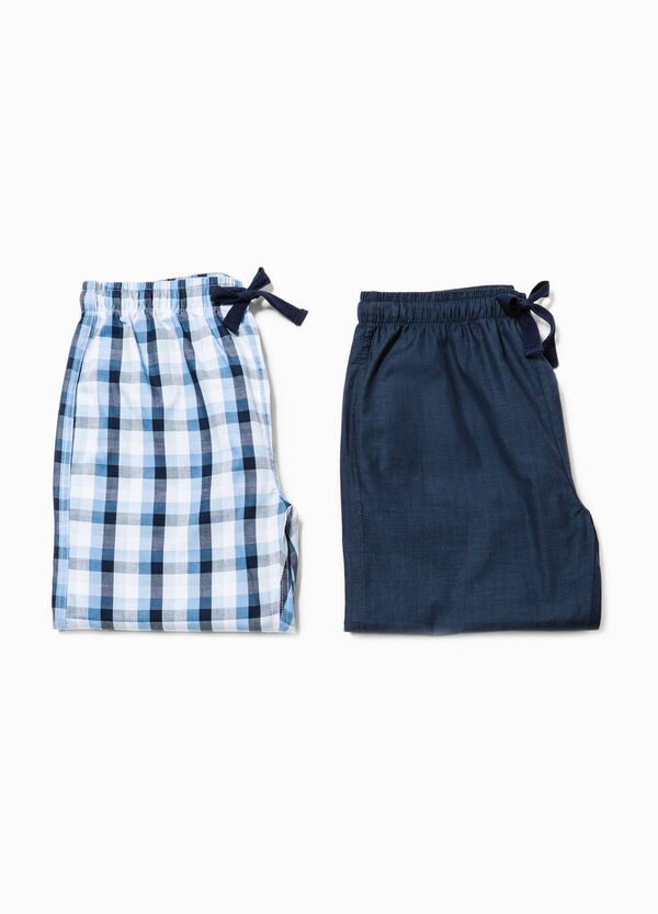 Two-pack pyjama trousers solid colour and tartan | OVS