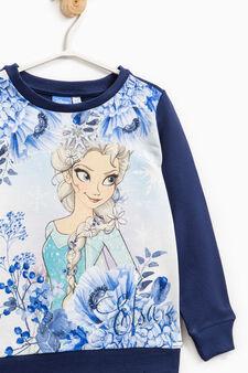 Felpa con maxi stampa Frozen, Blu, hi-res