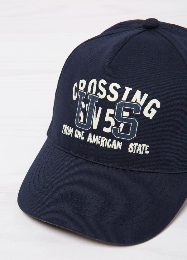 Baseball cap with printed lettering | OVS