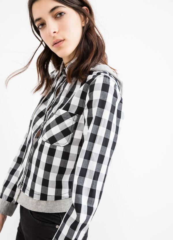 100% cotton shirt with hood | OVS
