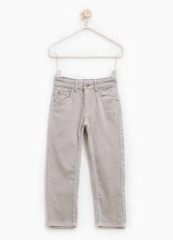 Pantaloni a costina tinta unita | OVS