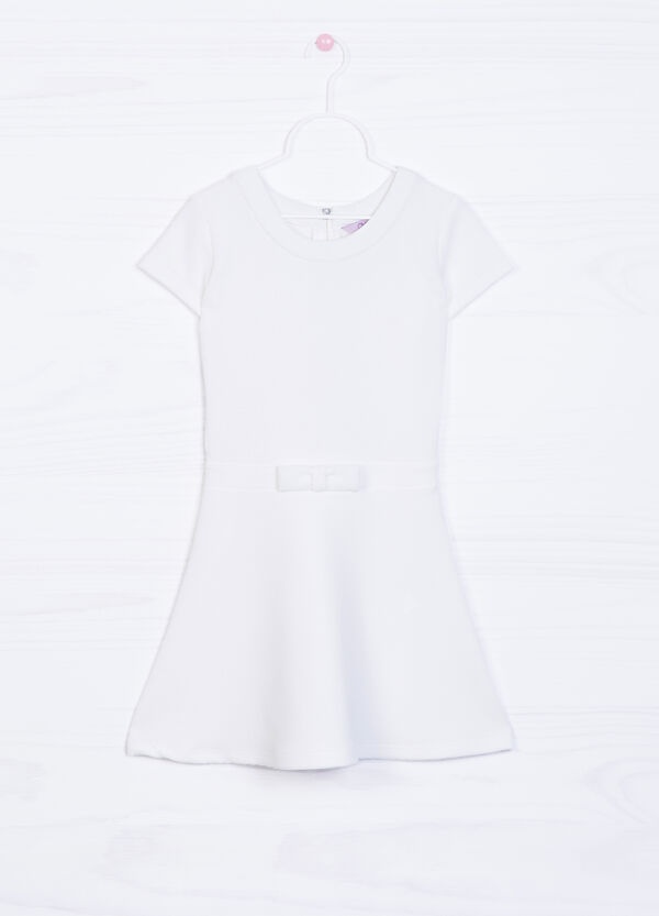 Solid colour sleeveless dress with bow | OVS