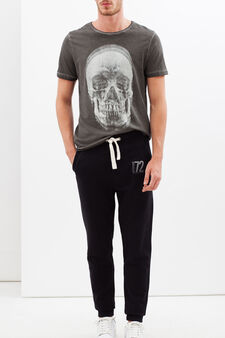 Joggers with drawstring, Black, hi-res