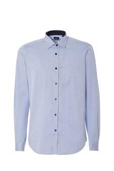 Custom-fit dobby shirt, Soft Blue, hi-res