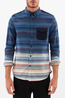 G&H shirt with blurred line pattern, Multicolour, hi-res