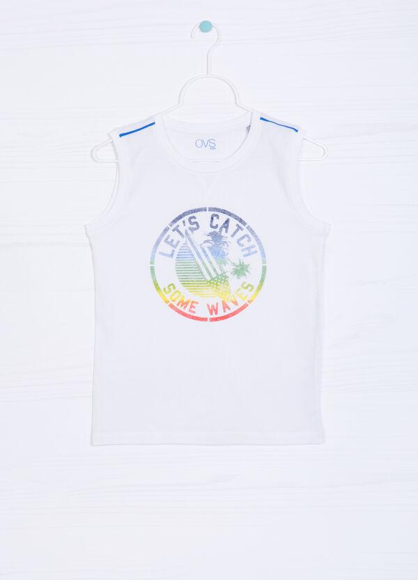 100% cotton printed vest   OVS
