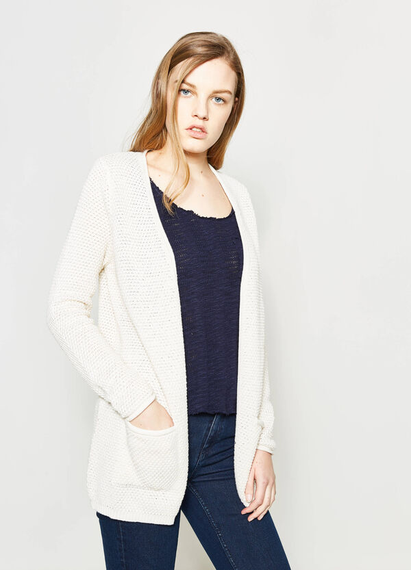Knitted cotton cardigan with pockets   OVS