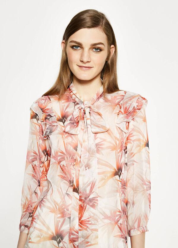 Blusa floreale con laccetto | OVS