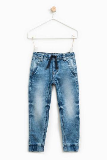 Washed-effect jogger-fit jeans, Light Wash, hi-res