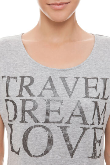 T-shirt con stampa, Light Grey, hi-res