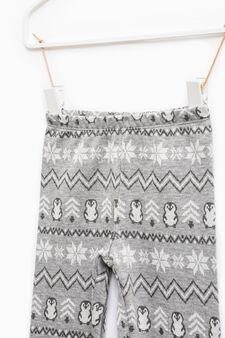 Jacquard patterned leggings, Grey Marl, hi-res