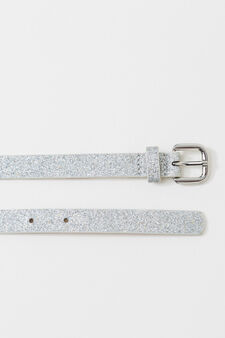 Slim belt with glitter, Grey/Silver, hi-res