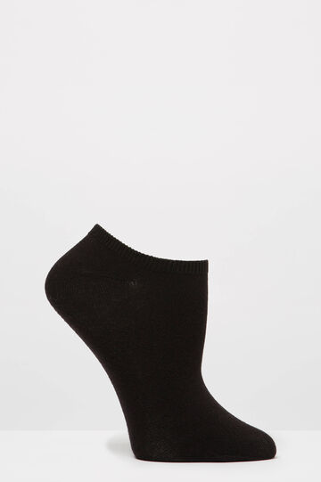 Two-pair pack solid colour socks, Black/Grey, hi-res