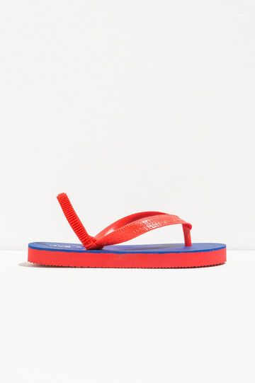 Flip flops with elasticated strap, Blue/Red, hi-res