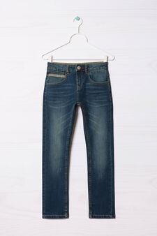Jeans slim fit effetto used, Denim, hi-res