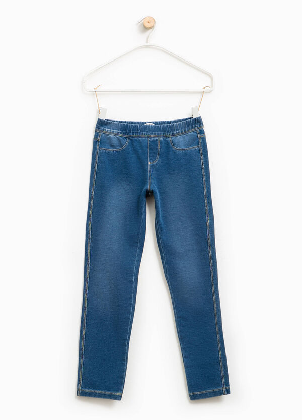 Washed-effect stretch jeggings | OVS