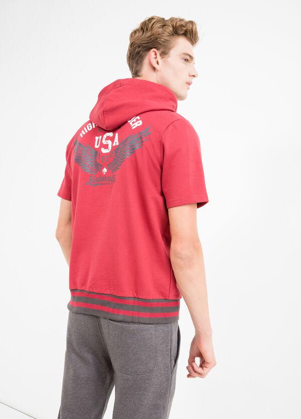 Cotton blend printed sweatshirt | OVS