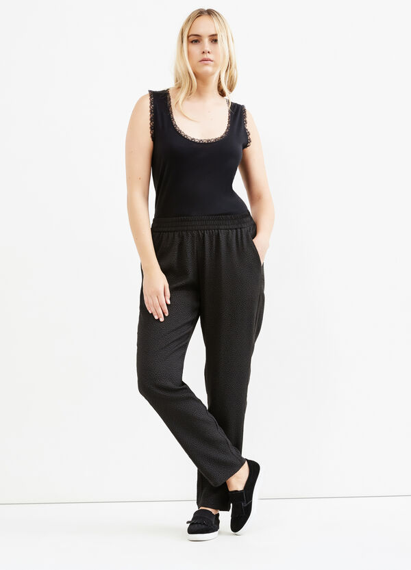 Curvy trousers with elasticated waist band | OVS