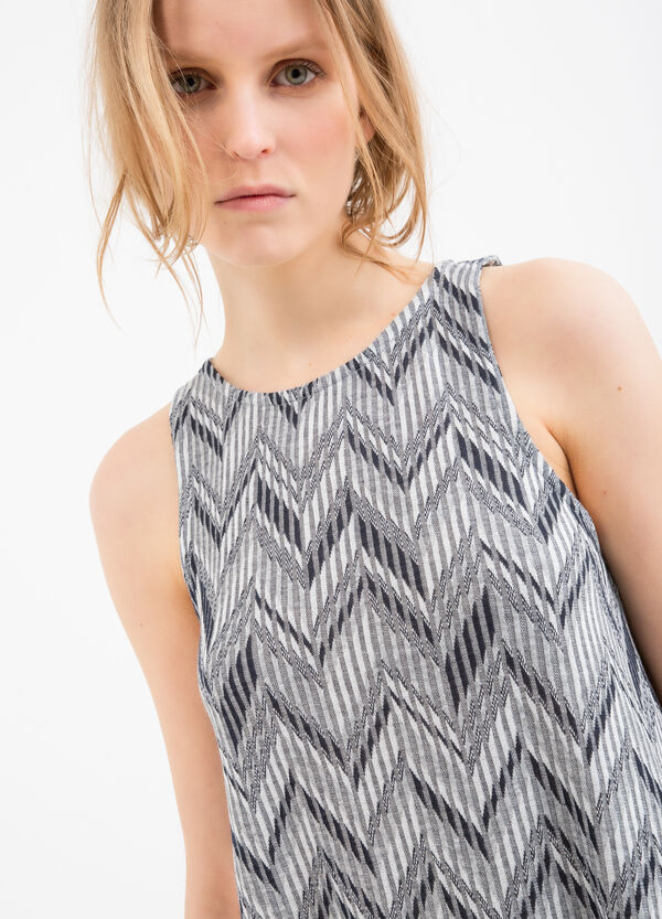 Viscose dress with all-over print | OVS