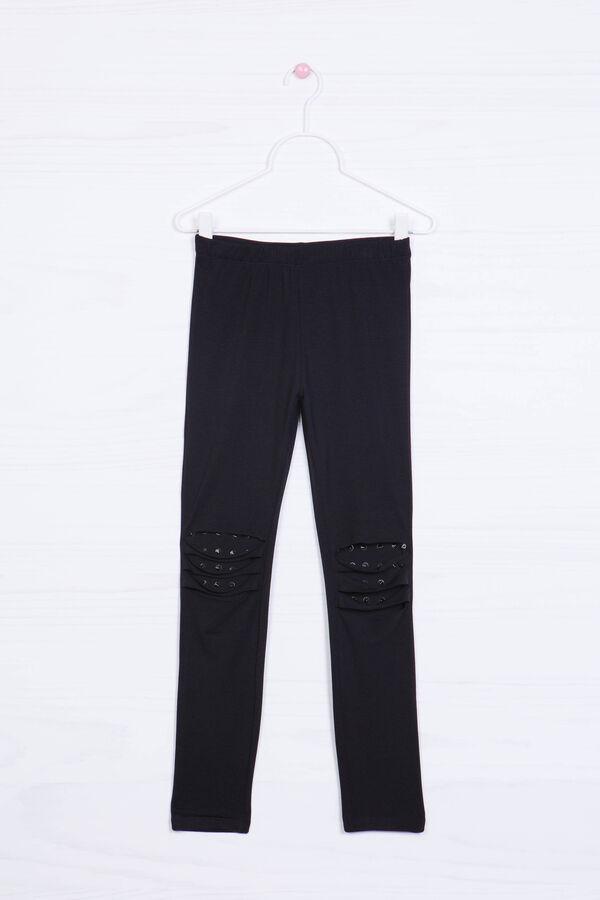 Leggings stretch strappi e borchie | OVS