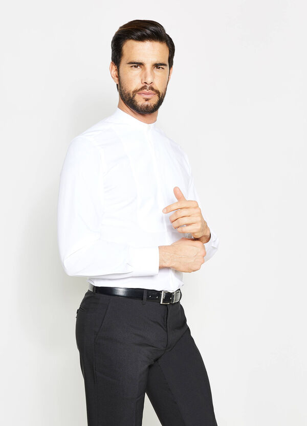 Camisa formal slim fit con cuello mao | OVS