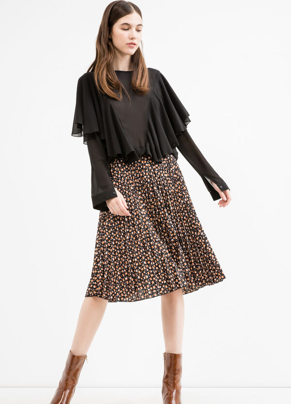 Long sleeved blouse with flounces | OVS