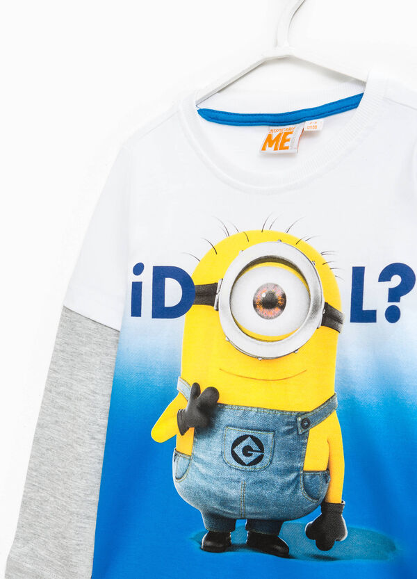 Faux layered cotton Minions T-shirt | OVS
