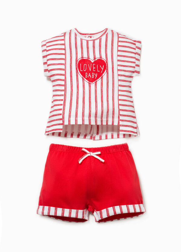 T-shirt and shorts set in 100% Biocotton | OVS