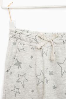 Pantaloni tuta con stelle glitterate, Grigio, hi-res