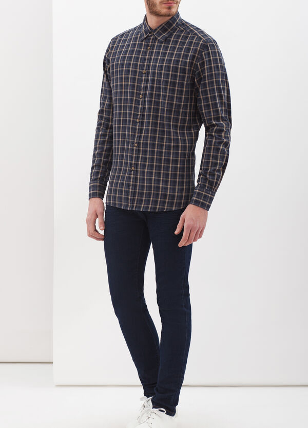 Flannel shirt, regular fit | OVS