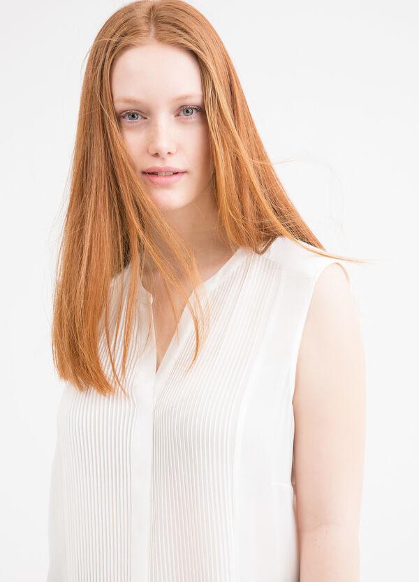 Curvy sleeveless cotton blouse | OVS