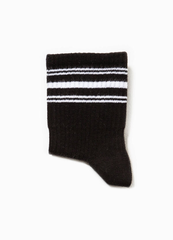 Short cotton socks with ribbing | OVS