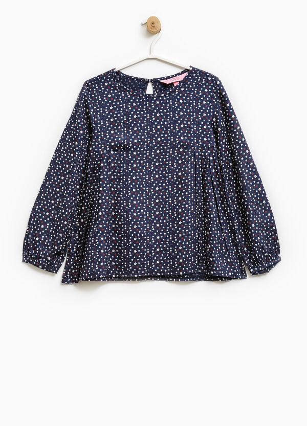 Viscose blouse with star pattern | OVS