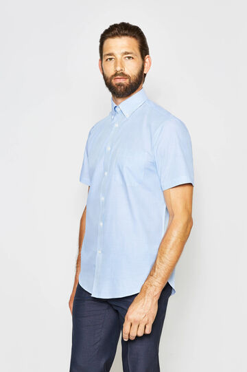 Regular-fit formal striped shirt
