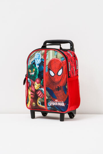 Zaino trolley stampa Spiderman, Rosso, hi-res