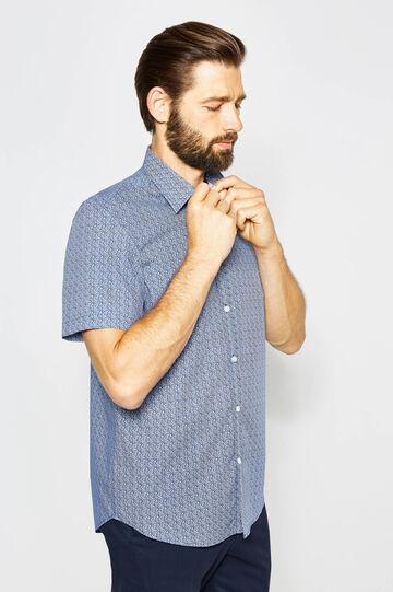 Regular-fit formal cotton shirt