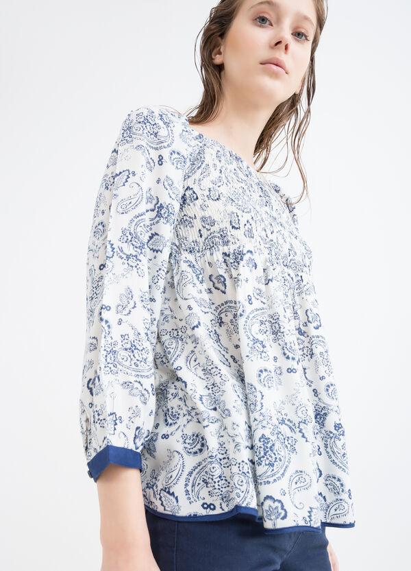 100% viscose printed blouse | OVS