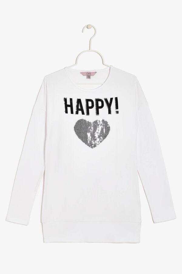 T-shirt con paillettes | OVS