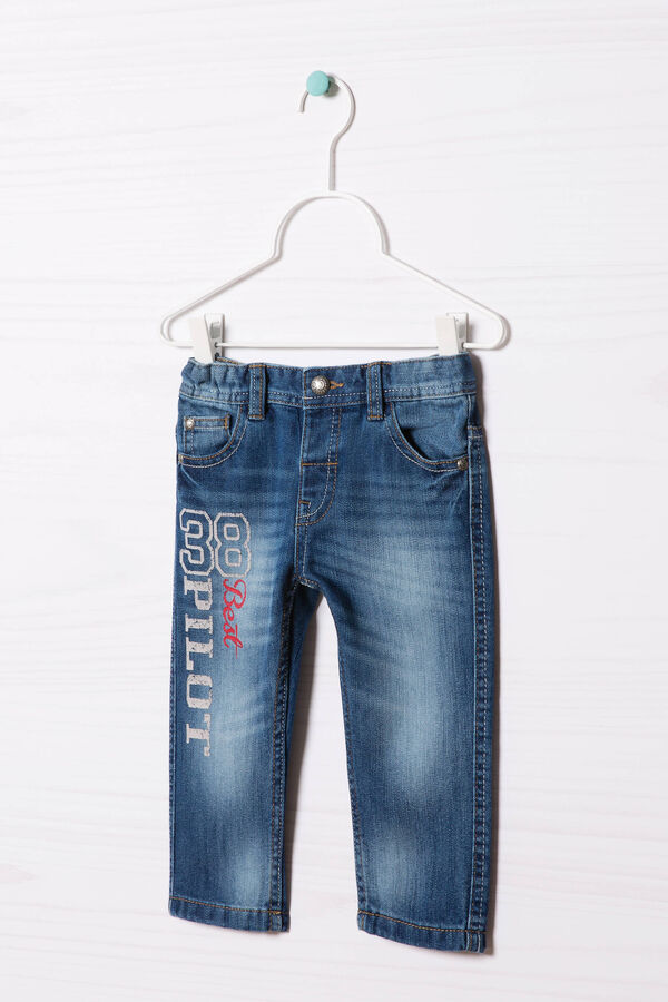 Worn-effect, turned-up jeans | OVS