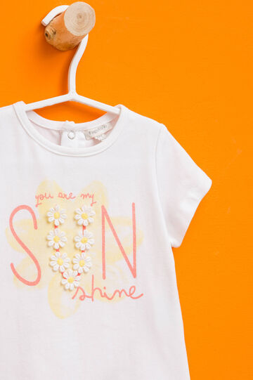 Printed T-shirt in cotton with flowers