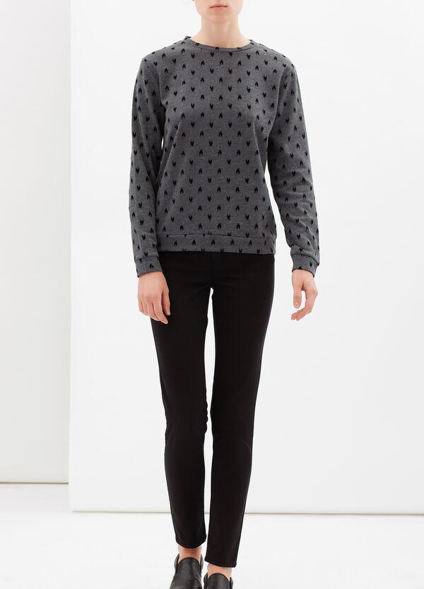 Flock printed sweatshirt | OVS