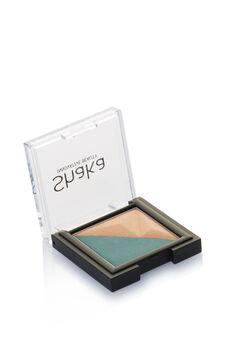 Two-tone eyeshadow., Green, hi-res