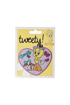 Tweetie Pie cotton iron-on patch, Multicolour, hi-res