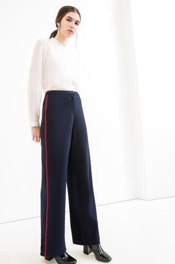 Pantaloni eleganti stretch, Blu, hi-res