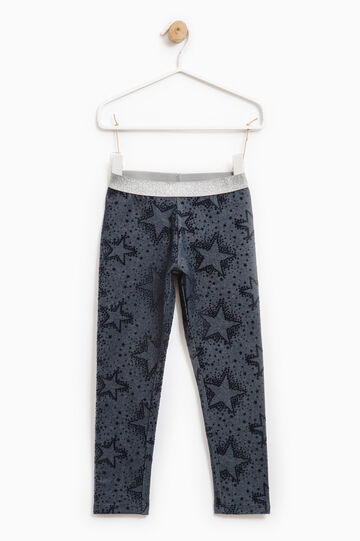 Leggings with all-over print, Dark Blue, hi-res