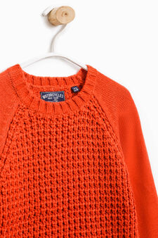 Chunky knit pullover, Orange, hi-res
