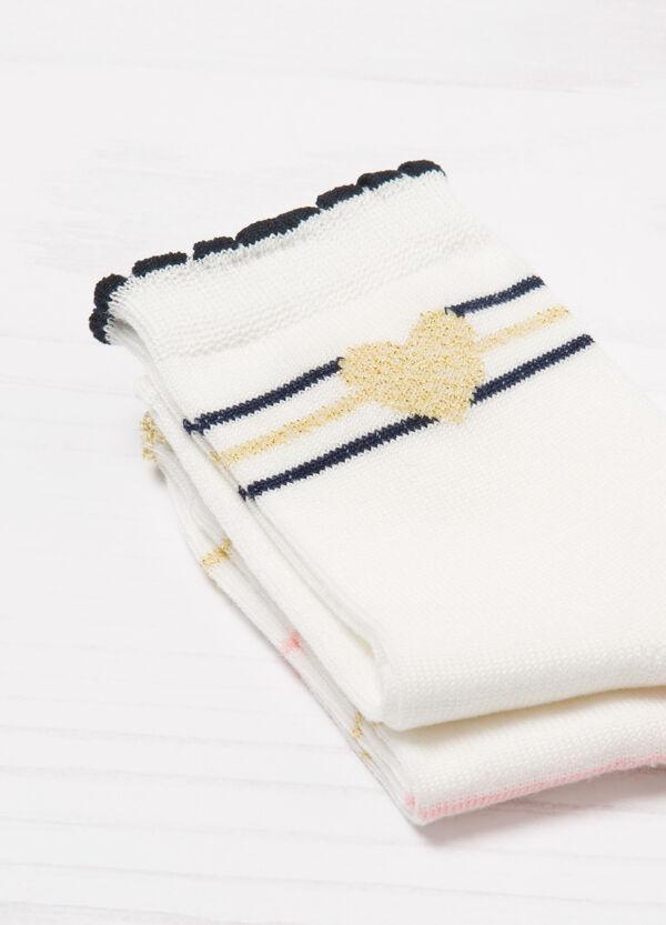 Set due paia di calze corte con glitter | OVS