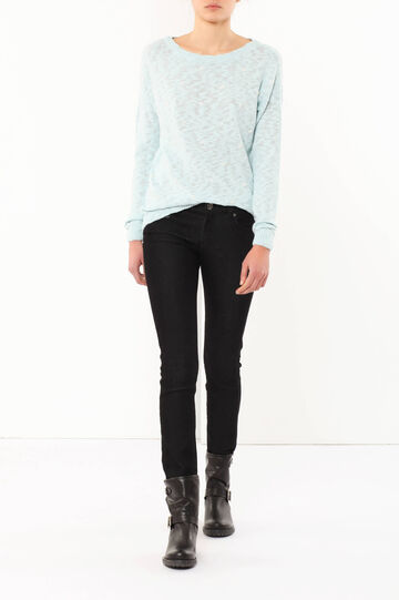 Jumper with embroideries, Light Blue, hi-res